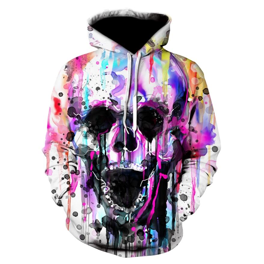 Fashion Hoodie Sweatshirts Men Womens Hoodies Long Sleeve Skull Punisher Grim Reaper 3D Print Hip Hop Hooded Pullover Jacket