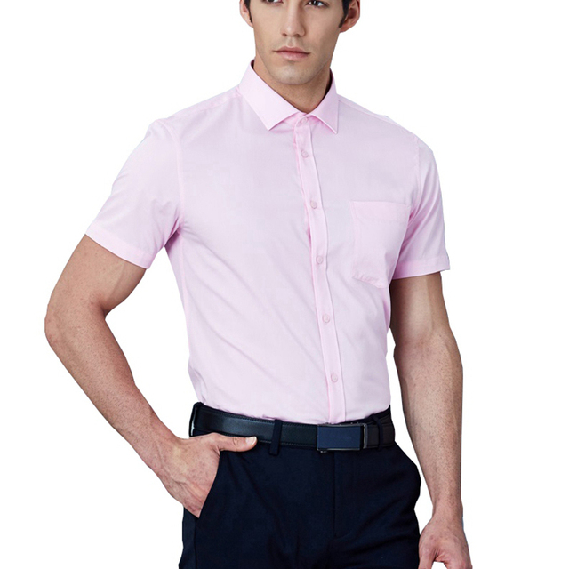 summer larger plus big size 9XL 7XL shirts men 8XL 10XL 14XL work Business Pink short sleeve Dress shirts wedding 11XL 12XL 13XL 3