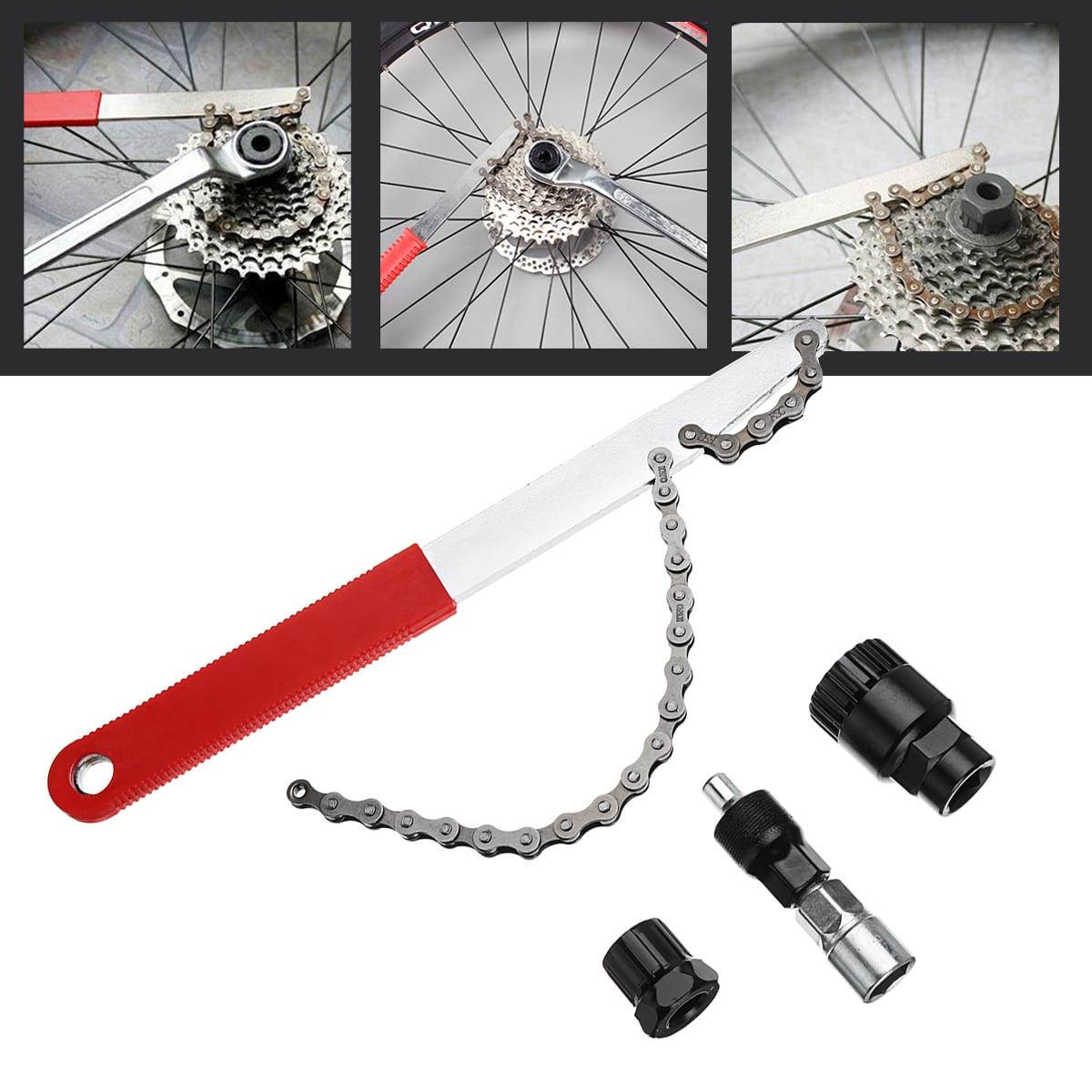 Lockring Tool Bike Freewheel Wrench Chain Whip Cassette Sprocket Remover