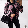 2016 Autumn Winter Fashion New Camouflage Knitted Female Cardigan Women Trench  Long Sleeve Sweater Women