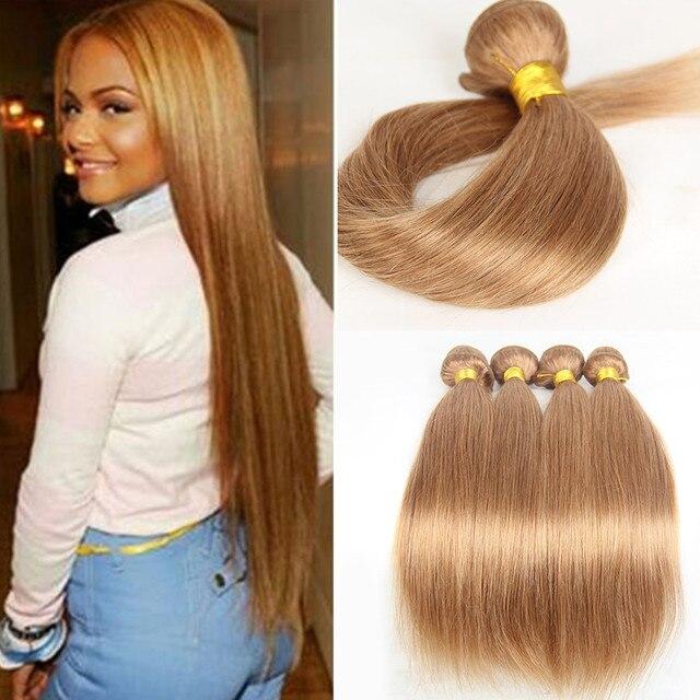 Favoriete Honing Blonde Braziliaanse Haar Weave Bundels #27 Braziliaanse &DU95