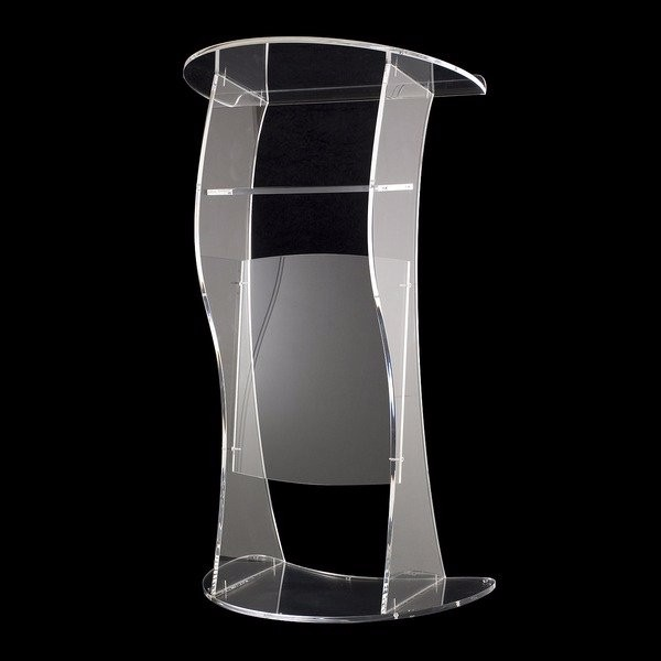 Free Shipping Dignified And Magnanimous Acrylic Podium Church / High Quality Acrylic Pulpit Of The Church Logo Customize