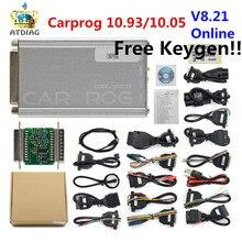 OBD OBD2 Herramienta de reparación de automóviles Carprog V10.0.5/V8.21, Tunning de con Chip ECU, todos los adaptadores pk iprog