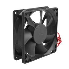 Bgettoth – ventilateur de refroidissement sans balais 12V, 80x80x25mm, 2 broches, pour ordinateur, CPU, dissipateur thermique, haute qualité