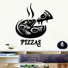 3D pizzas Environmental Protection Vinyl Stickers For Restaurant Decoration Removable Wall Sticker Home Decoration Wallpaper
