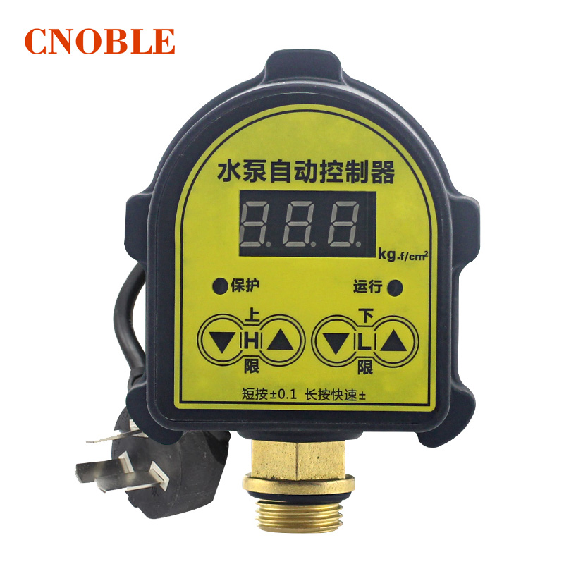 WPC-10 G1/2 digital water pump switch electronic intelligent pressure pump controller automatic water pump switch control newest 220v 1 1kw automatic pump pressure controller electronic switch control for water pump