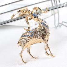 Китайский Зодиак Коза Овцы Прекрасный Кристалл Rhinestone Шарм Подвеска Кошелек Сумка Автомобиль Брелок Творческий Свадьбы Подарок