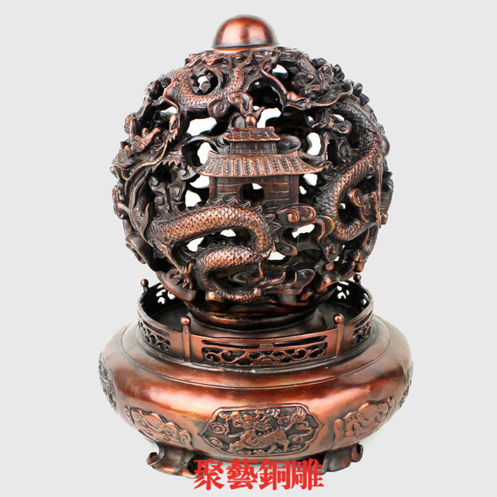 Bronze statue copper furnace events decoration basons lucky decoration