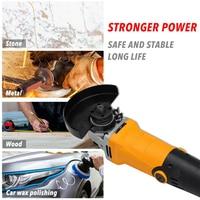800W Electric Angle Grinder Adjustable Speed Metal Cutting Tool 220V EU Plug Rotation Adjustable Speed Anti slip