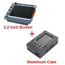 2.2 inchraspberry Pi 3 TFT Экран ЖК-дисплей Дисплей + черный алюминиевый корпус Box также для Raspberry Pi 2 Модель B Бесплатная доставка