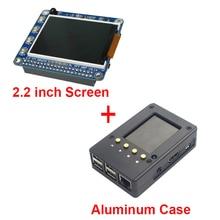2.2 дюймов Raspberry Pi 3 TFT Экран ЖК-дисплей Дисплей + черный Алюминий корпус Box также для Raspberry Pi 2 Модель B Бесплатная доставка