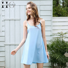 HEE GRAND 2018 Sexy Backless Mini Dresses Women Summer Spaghetti Strap A-Line Vestidos Beach Sleeveless Casual Dresses WQD805