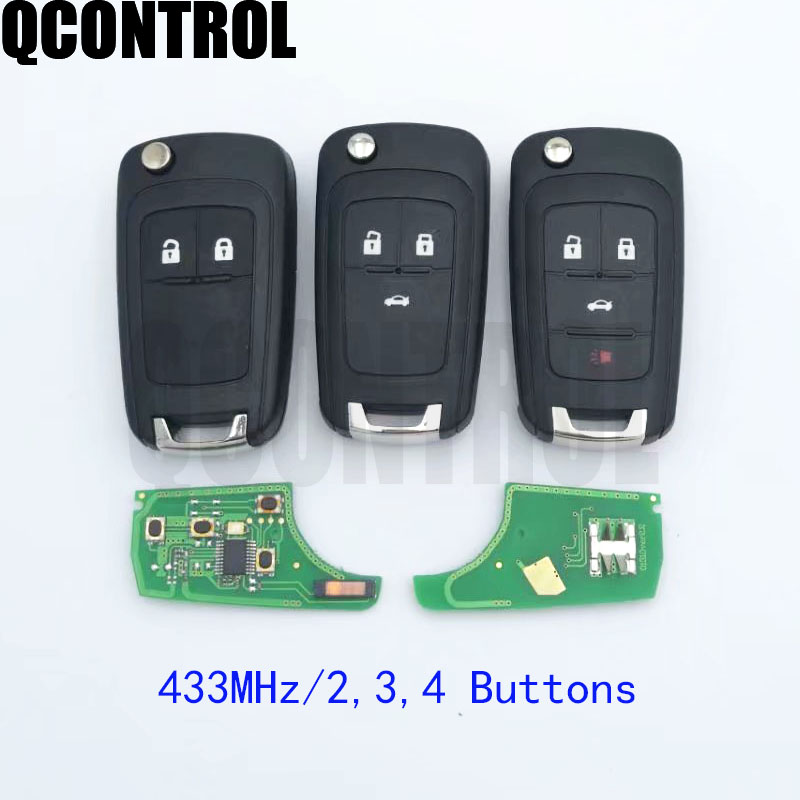 QCONTROL 2/3/4 Buttons Car Remote Key DIY for OPEL/VAUXHALL 433MHz for Astra J Corsa E Insignia Zafira C 2009 2016-in Car Key from Automobiles & Motorcycles