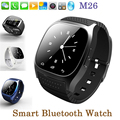 Smart watch m26 bluetooth smart watch vida impermeable reloj con podómetro led para apple ios android smart phone