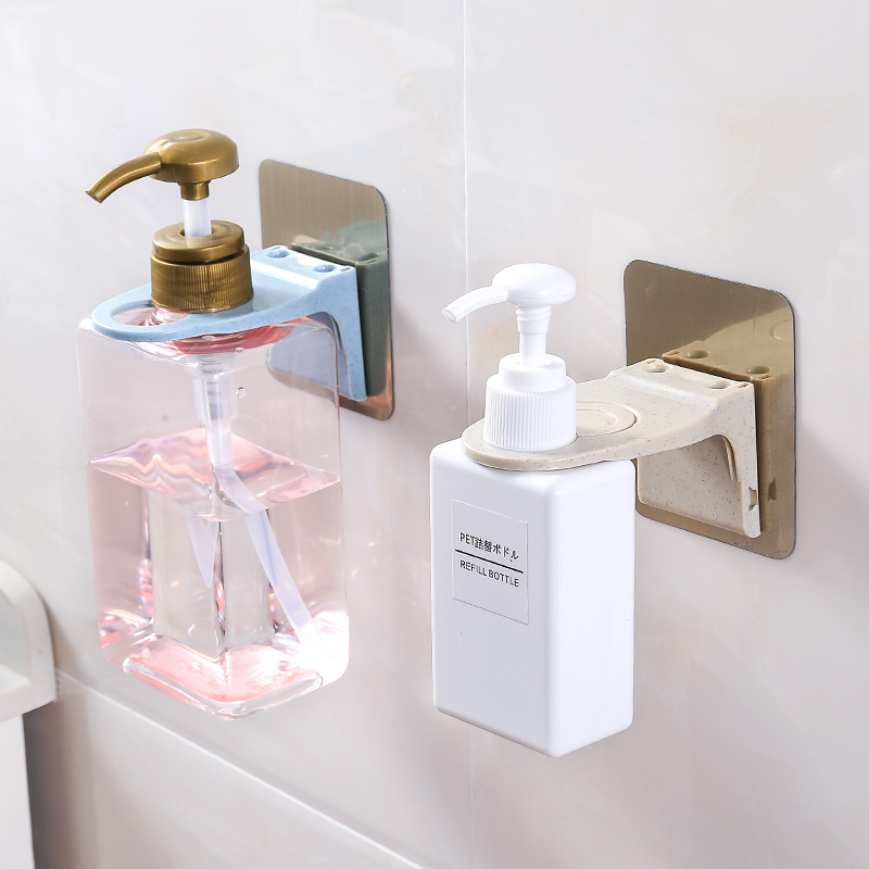Free Punch Shower Gel Bottle Rack Seamless Shampoo Hook Bathroom Shelf Storage Rack