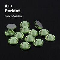 Перидот оптовый Hot Fix Стразы подобные SWA AAA Качество strass исправления Камни и кристаллами для одежды украшения