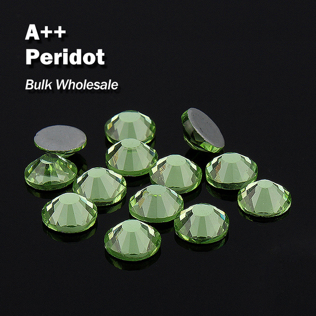 Peridot Bulk Wholesale Hot fix Rhinestones Similar Swa AAA Quality Strass  Hotfix Stones and Crystals For Clothes Decoration 03e154c5b817
