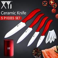 XYj Kitchen Knives Cooking Set Zirconia Ceramic Knife 3 4 5 6 White Blade Paring Fruit