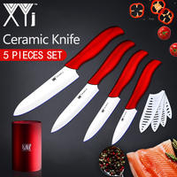 XYj Kitchen Knives Cooking Set Zirconia Ceramic Knife 3 4 5 6 White Blade Paring Fruit