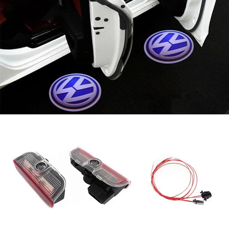 2x 3D LED Car Door Logo Lights For Volkswagen VW Golf 5 6 7 Passat B6 B7 CC Jetta MK5 MK6 MK7 Tiguan Scirocco EOS Sharan MAGOTAN