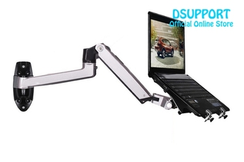Aluminum Alloy Mechanical Spring Arm Wall Mount Laptop Holder Full Motion Laptop Mount Arm Monitor Holder/ Laptop Stand 2 in 1 dl d 103st 23 55 50 vesa 400x400 50kg full motion 6 arm adjustable arm tv bracket lcd wall mount led stand swivel