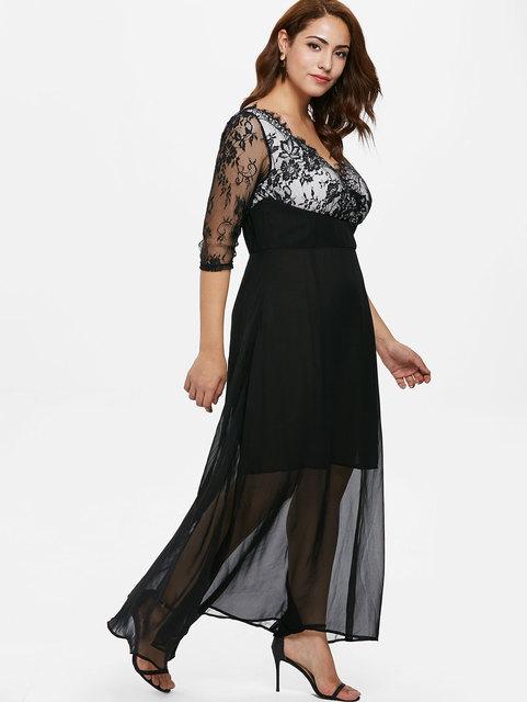 Plus Size Maxi Dresses Sleeves