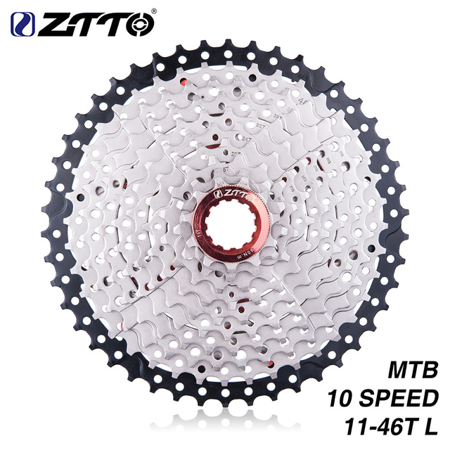 ZTTO 11 46 T 10 Velocidades 10 s Wide Ratio MTB Mountain Bike bicicleta Cassete Dentadas
