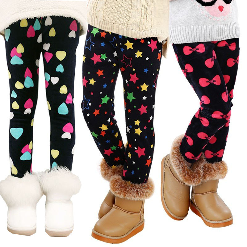 Children Pants Winter Autumn Thicken Warm Girls Leggings Plus Velvet Skinny Girl Pants Soft Warm Leggings Baby Girls Trouser 4t 14t children s clothing pants leggings warm three layers plus plush thickening cotton baby girl clothes winter children