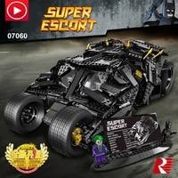 Legoed Technic movie super man Batman Chariot Motor Super Hero Model Race Car AFV Legoing Building Block Toy Boy Christmas Gift