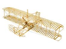 ELERC DIY Craft, Kit Bangunan Furnitur Kayu, Hadiah, Mainan Bangunan, Wright Brothers Flyer I Penghantaran Percuma