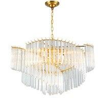 Американский светодиодный Подвеска лампы nordic подвесные светильники гостиная кристалл светильников современный дом светильники теплый сп