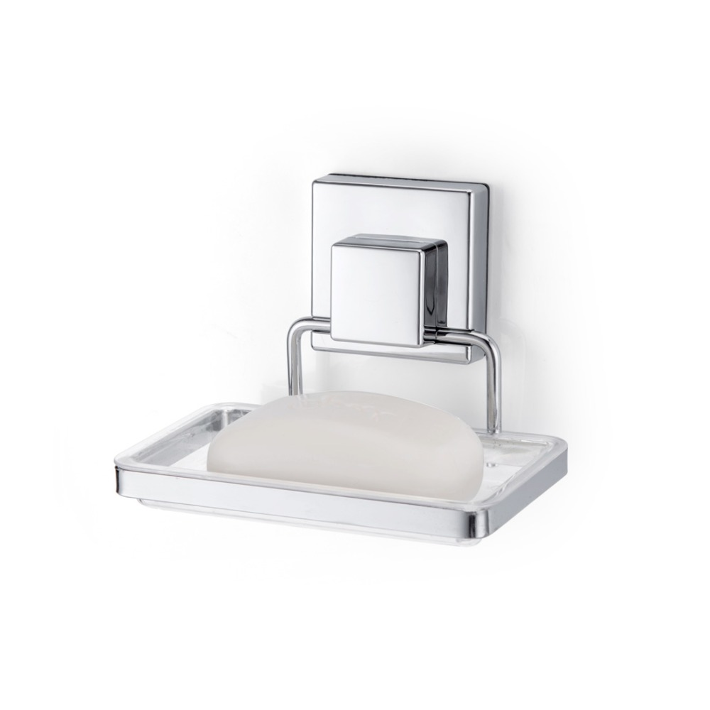Suction Cup Soap Dish Holder Shower Bathroom Kitchen Wall Mounted Soap Basket Box Square Sucker Strong Iron Accessories 500pcs pack removable suction cup sucker wall window bathroom kitchen hanger hooks