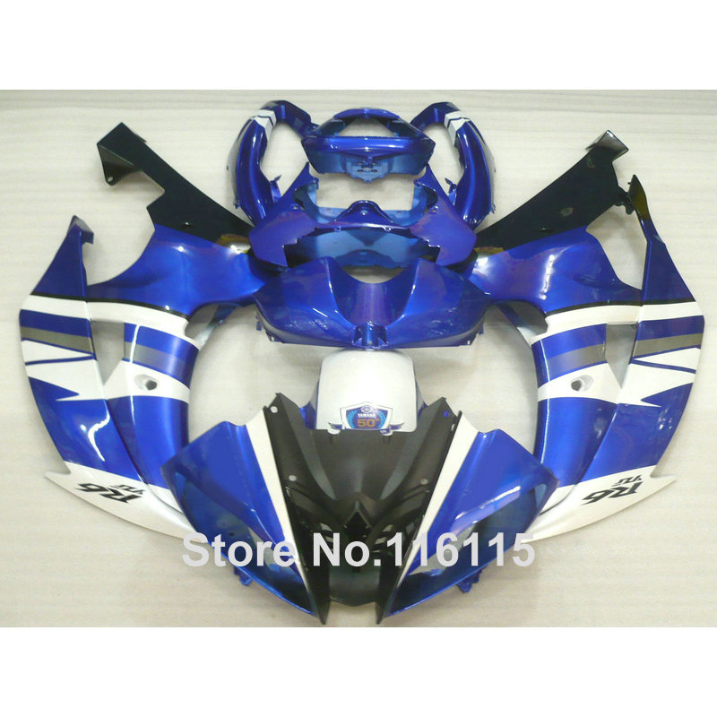 ΞKit completo de carenado ABS para Yamaha R6 2008-2014 azul blanco ...