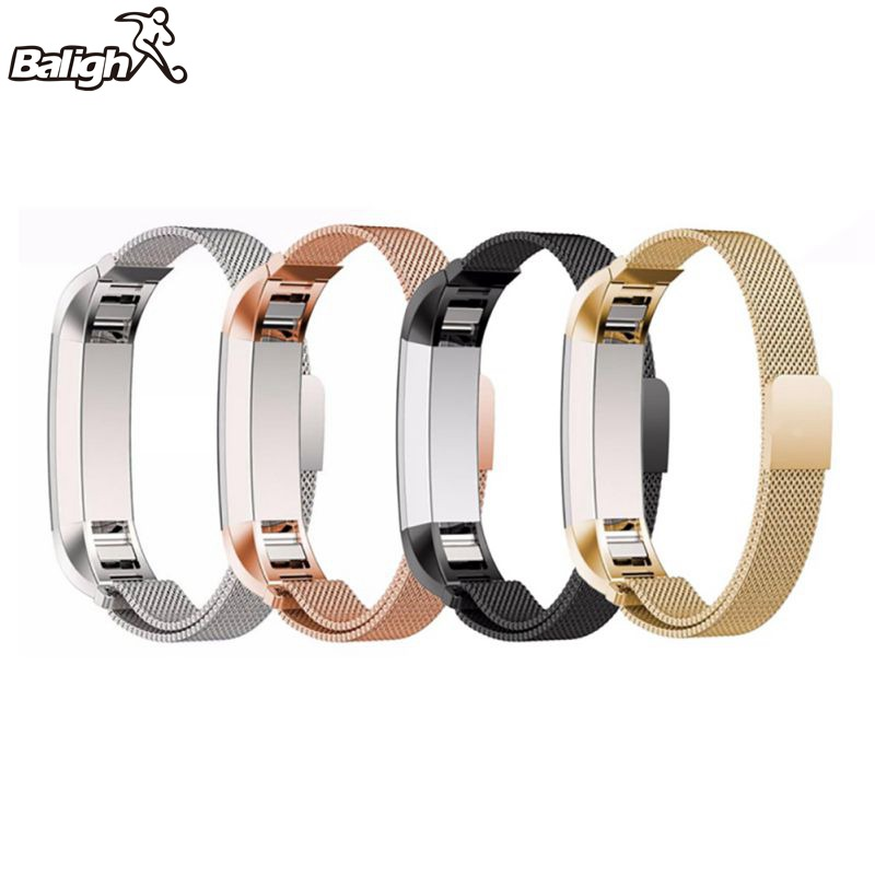 High Quality Adjustable Stainless Steel Fashion Watch Wristband Strap Men Women Band for Fitbit Alta Bracelet Belt Accessory