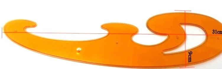 set Von 3 Stücke Ausdrucksvoll Kurve Bord Teilig Chiban Cloud Größe Cartoons Kurvenlineal Zeichnungsvorlage Hohe Sicherheit