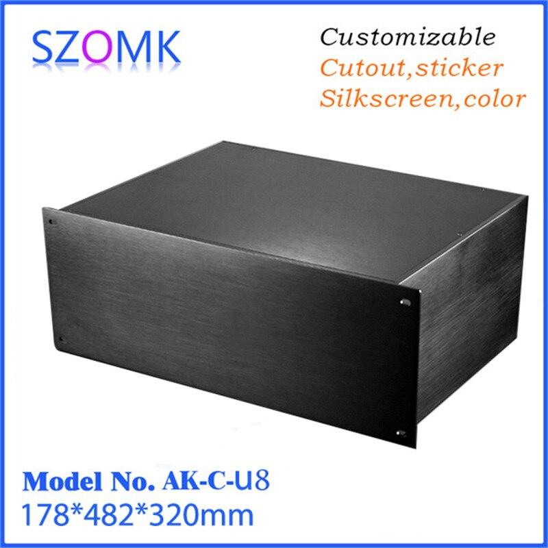 Vente chaude en aluminium case box boîtier pour l'électronique pcb boîte de jonction (1 pcs) 178*482*320mm électronique enceinte de l'équipement
