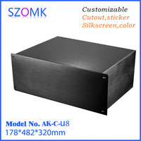 hot selling aluminum case box enclosure for electronics pcb junction box (1 pcs) 178*482*320mm electronic equipment enclosure