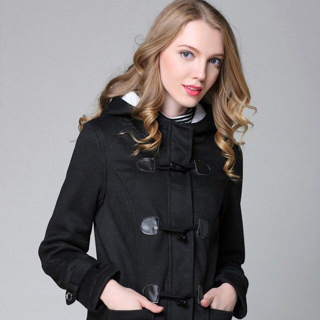 1e800c0b1435 Casual Winter Jacket Women Hooded Winter Coat Fashion Autumn Women Parka  Horn Button Coats Abrigos Y Chaquetas Mujer Invierno