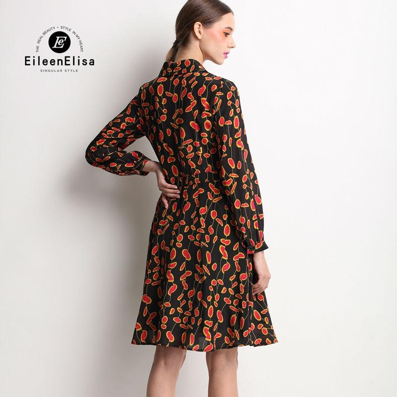 2017 Imprimer Robe Piste Femme Robes Dot Luxe Femmes Élégant Printemps Vintage De Soie EHqZw4F6