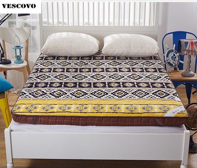 Bohemia style mattress Thick coral velvet tatami single mattress student slip double soft warm bed bedding