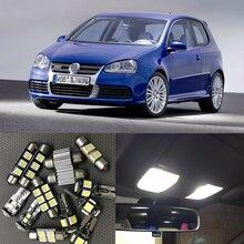 Для 2003 2004 2005 2006 2007 Volkswagen VW GOLF GTI MK5 Canbus Автоматическая внутренняя светодиодная подсветка Светильник лампы 6000K Белый Купол Карта багажник светильник