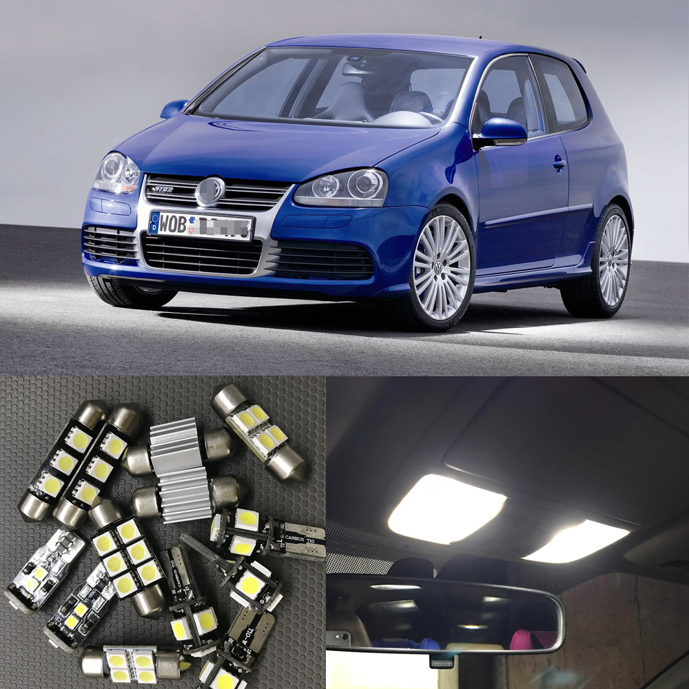 For 2003 2004 2005 2006 2007 Volkswagen <font><b>VW</b></font> <font><b>GOLF</b></font> <font><b>GTI</b></font> MK5 Canbus Auto Led interior Light bulbs 6000K White Dome Map Trunk Light image