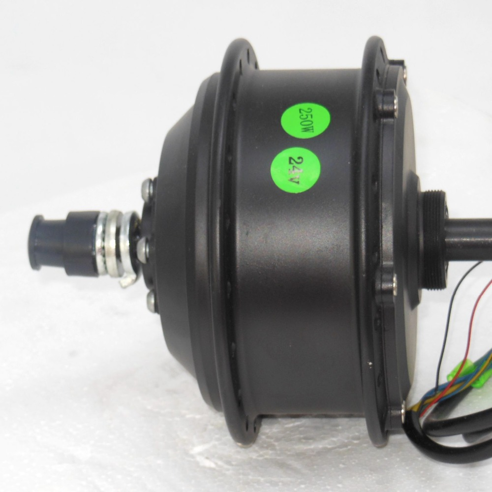 EVfitting Electric Bike 24V 250W rear wheel geared brushless DC motor