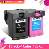 QSYRAINBOW 123 Ink Cartridges Refilled Replacement for HP 123 123xl for Deskjet 1110 2130 2132 2133 3630 3632 3638 4520 IP123