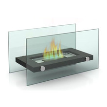 Metal And Glass Crafts Bio Ethanol Table Top Fireplace Home Decoration Fireplace  KW2303