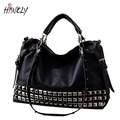 New Fashion Women's Fashion Handbag Motorcycle Bag Rivet Shoulder Bag Female Handbag Large Bag Messenger Bags BAGM6185