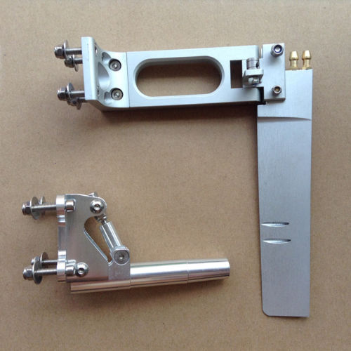 1 Set aluminium 160mm absorbant l'eau gouvernail + 6.5mm 95mm queue Flexible arbre support pour bricolage RC moteur à essence pièces de bateaux à réaction