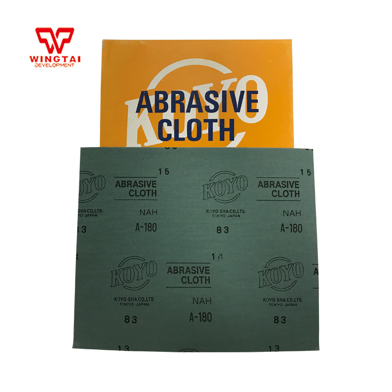 50 Pcs / Lot GuangYang Japan KOYO Coated Abrasives Cloth Electro Coated Abrasive Papers Sandpapers For Polishing 180 Grit