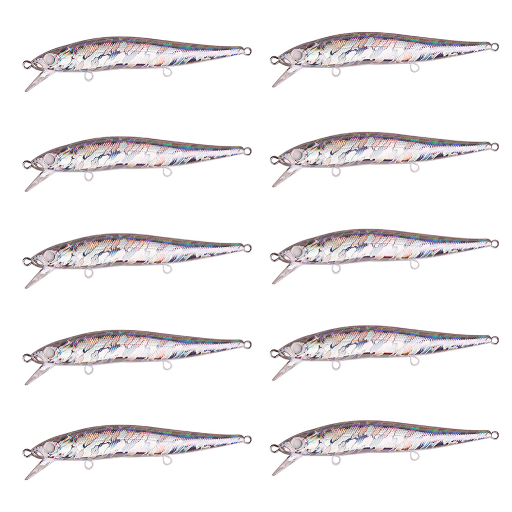 20pcs / set KO 11cm 13g Versjon Minnow Crankbait Hard Fishing Lures Holografisk Slow Sinking Jerkbaits med Weight Transfer System