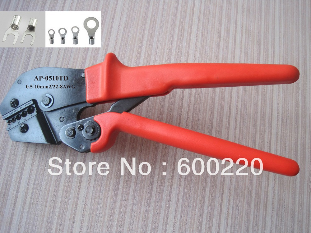 0 5 10mm2 22 8awg ratchet terminal crimping tool for non insulated terminals and connector in. Black Bedroom Furniture Sets. Home Design Ideas